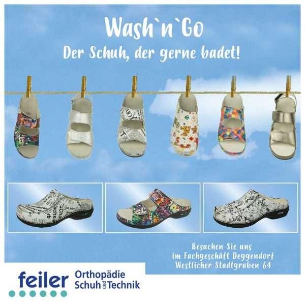 """alt """"washngo Schuhe an einer Leine aufgehangen"""""""