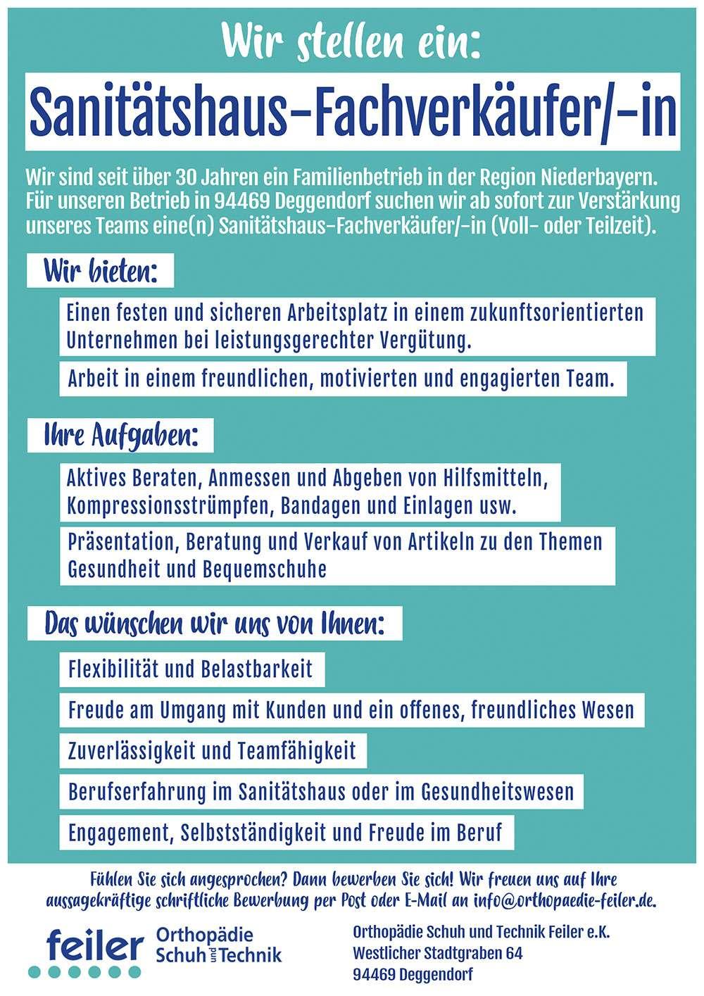 """alt """"Jobs und Karriere Stellenanzeige Feiler"""""""